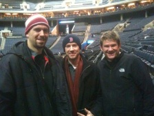Brad and Mark at Bulls game